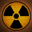 Stock Photo: Radiation sign.