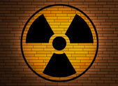 Radiation sign. — Stock Photo
