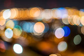 City lights bokeh. — Stock Photo
