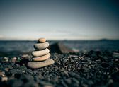 Stack of zen stones. — Stock Photo