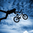 Mwith bmx bike. — Stock Photo #41653377