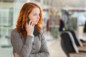 Girl speaking by phone. — Stock Photo