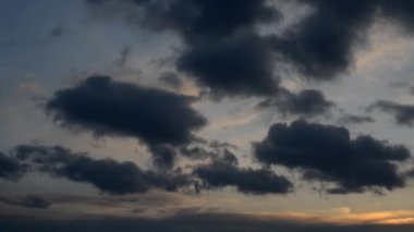 Dark clouds on sky. — Video Stock