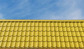 Yellow roof tiles. — Stockfoto