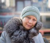 Aged woman portrait. — Stock Photo