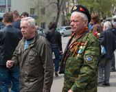 Unidentified veterans during festivities devoted to Victory Day. — Stock Photo