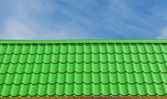 Green roof tiles. — Stock Photo