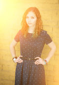 Portrait of a redhead girl. — Stock Photo