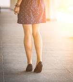Women's legs in shoes. — Stock Photo