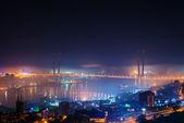その都市の霧. — ストック写真