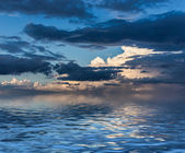 Sky reflected in water. — Stock Photo