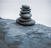 Stack of zen stones. — 图库照片