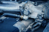Old and dirty car engine. — Stock Photo