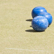 Bowls or lawn bowls — Stock Photo