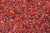 Background of red wood chips — Stock Photo