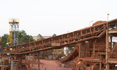Bauxite mining industry — ストック写真
