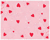 Heart seamless patterns — Stock Vector