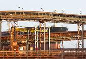 Bauxite mine shipment — Stock Photo