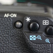 Closeup of professional digital photo camera — Stock Photo
