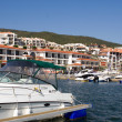 Luxury yachts in a bulgarian port — Stock Photo