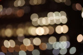 Blurred lights in Canary Wharf, London — Stock Photo