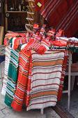 Rugs at a street market in Nesebar ( Bulgaria ) — Stock Photo