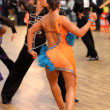 Latino dance couple in action — Stock Photo #14650897