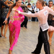 Latino dance couple in action — Stock Photo
