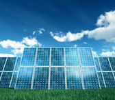 Isolated on white photovoltaic Panel — Stock Photo