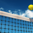 Stock Photo: Tennis Ball over Net