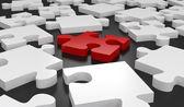 Isolated Puzzle Piece — Stock Photo