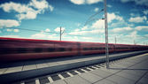 High Speed Train in the Station — Stock Photo