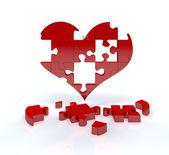 Láska puzzle — Stock fotografie