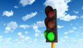 Green Traffic Lights — Stock Photo