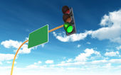 Green Traffic Light — Stock Photo