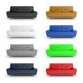 Colorful Sofa — Stock Photo