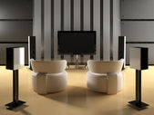 Home Theater Room — Stock Photo