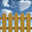 Fence and Blue Sky — Stock Photo