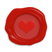 Seal with heart — Stock Photo