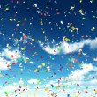 Royalty-Free Stock Photo: Colorful Confetti in Sky