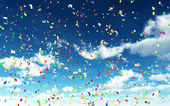 Colorful Confetti in Sky — Stock Photo