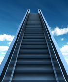 Elevator to the Sky with Clipping Path — Stock Photo