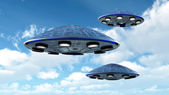 UFO in the sky — Stock Photo