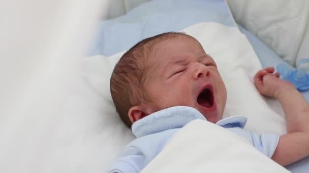 Bebé recién nacido durmiendo — Vídeo de stock