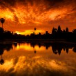 Royalty-Free Stock Photo: Red Dawn Sunrise at Angkor Wat