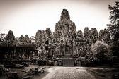 Scultura del tempio bayon ad angkor in cambogia — Foto Stock