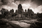 Carving of Bayon Temple at Angkor in Cambodia — Stock Photo