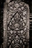 Banteay Srei carving column at Angkor Wat — Stock Photo