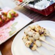 Royalty-Free Stock Photo: Thai style BBQ chicken balls on skewer