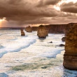 Backlit 12 Apostles golden sunset — Stock Photo